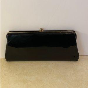 Vintage mid century clutch purse evening bag black